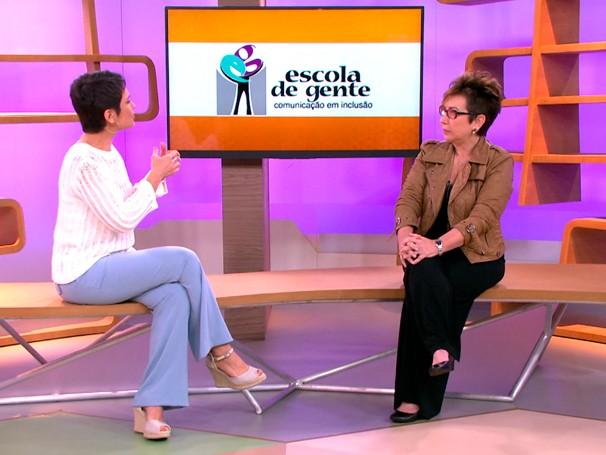 A jornalista Claudia Werneck criou a Escola de Gente após escrever uma matéria sobre síndrome de down (Foto: Reprodução de TV)