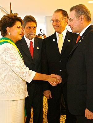 Nuzman Dilma Jacques Rogge Rio 2016 (Foto: Wander Roberto)