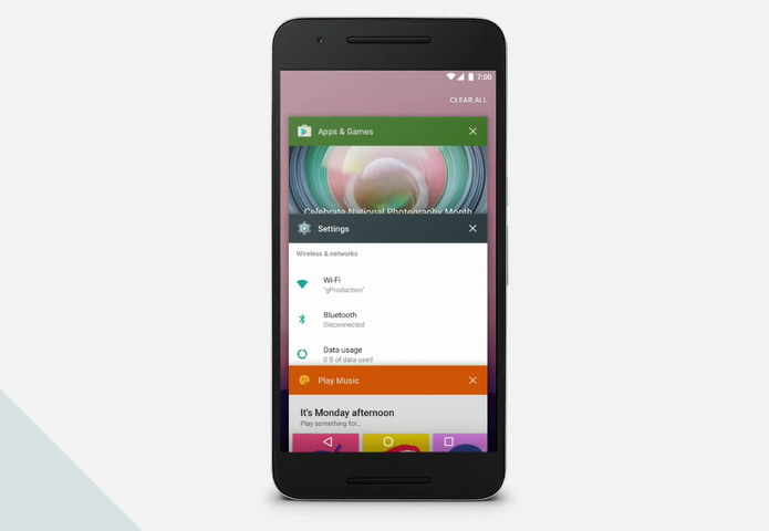 Google limpará o multitarefas do Android N para torná-lo mais intuitivo (Foto: Reprodução/Google) (Foto: Google limpará o multitarefas do Android N para torná-lo mais intuitivo (Foto: Reprodução/Google))