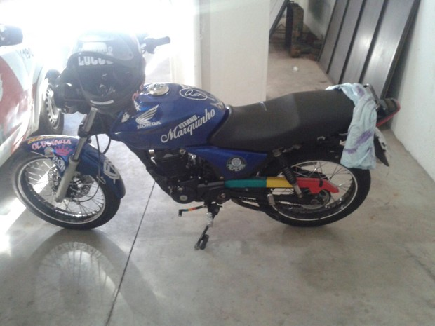Testemunha anotou placa de motocicleta (Foto: Polícia Militar/Divulgação)