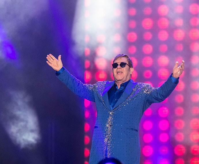 Elton John se apresenta no Palco Mundo (Foto: Inácio Moraes/Gshow)