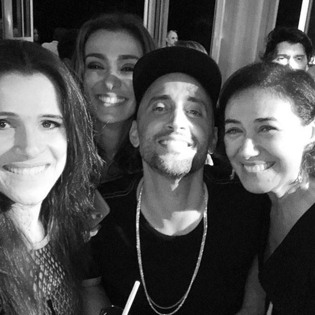 Ingrid Guimarães, Monica Martelli, Paulo Gustavo e Lilia Cabral em festa na Zona Sul do Rio (Foto: Instagram/ Reprodução)