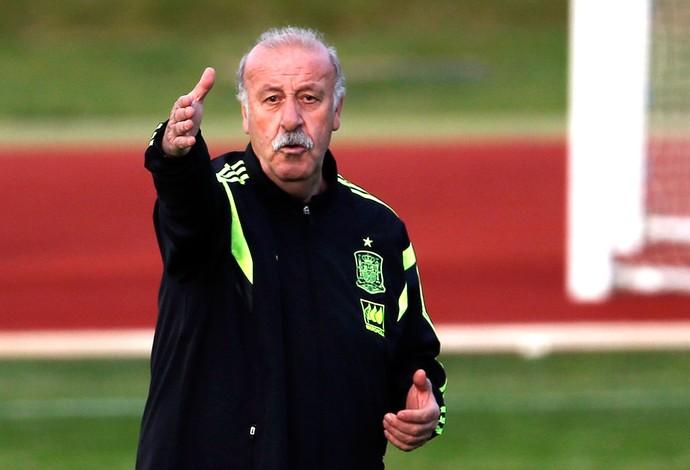 Vicente Del Bosque Treino Espanha Copa do Mundo (Foto: Agência Reuters)
