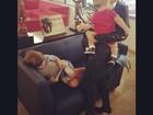 Claudia Leitte viaja com os filhos: 'Meus amores na estrada outra vez'