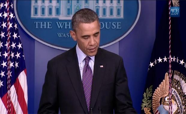 Barack Obama discursa sobre Nelson Mandela nesta quinta-feira (5) (Foto: Reprodução / Site da Casa Branca)