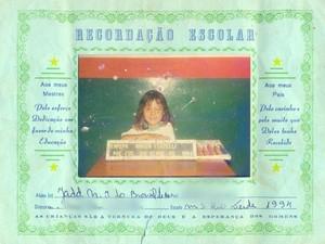 Mesmo sem estar no registro, escola usava nome Jadd (Foto: Jadd de Menezes/Arquivo Pessoal)