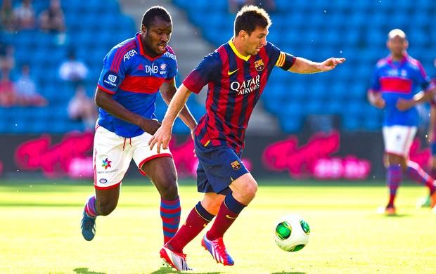 Messi jogo Barcelona contra Valerenga (Foto: Reuters)