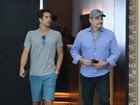 Edson Celulari curte o domingo ao lado do filho, Enzo