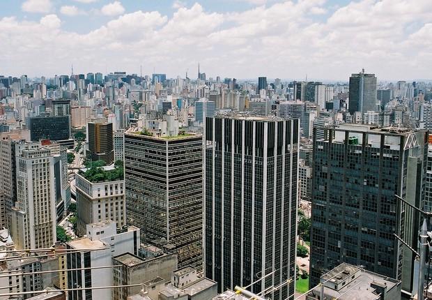 Vista aérea da cidade de São Paulo (Foto: Marcos Santos/USP Imagens)