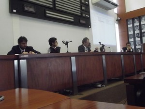Mesa foi composta por representantes das esferas públicas federais e estaduais.  (Foto: Patrícia Belo/G1)