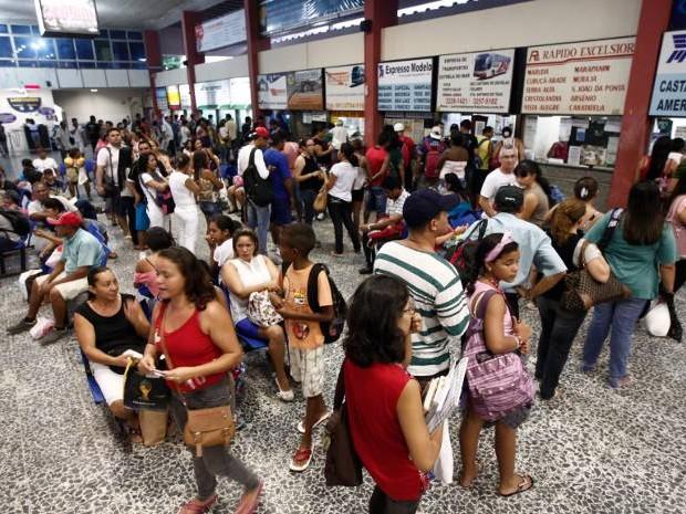 Movimento no Terminal Rodoviário de Belém deve aumentar nesta quinta-feira. (Foto: Tarso Sarraf /O Liberal)