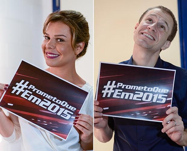 Na sua promessa do ano que vem, Leifert se revela nervoso no trânsito (Foto: Camila Serejo/Gshow)
