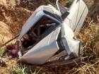 Casal morre e motorista fica ferido após carro capotar na BR-414, em GO