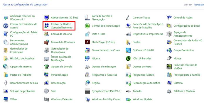 Windows permite configurar funcionamento do sistema (Foto: Reprodução/Windows)