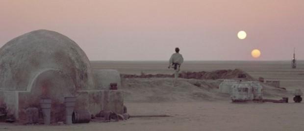 Na série 'Guerra nas estrelas', Tatooine serve de lar para Luke Skywalker. (Foto: Divulgação)