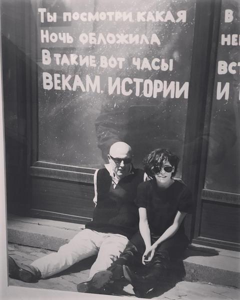 Bárbara Paz e Hector Babenco (Foto: Reprodução/Instagram)