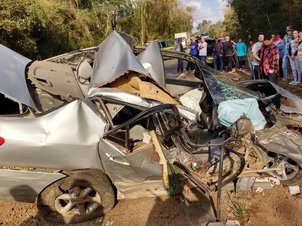 Jovem de 27 anos morreu após capotar em Nova Prata (Foto: Divulgação/PRF)