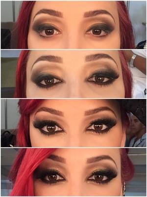 Veja o passo a passo da maquiagem dos olhos de Josie Pessoa (Foto: Arquivo Pessoal)