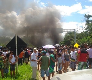 Protesto na Bahia (Foto: Arquivo pessoal)