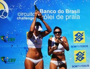 Andrezza e Chell vencem etapa do Circuito Challenger (Foto: Divulgação/CBV)