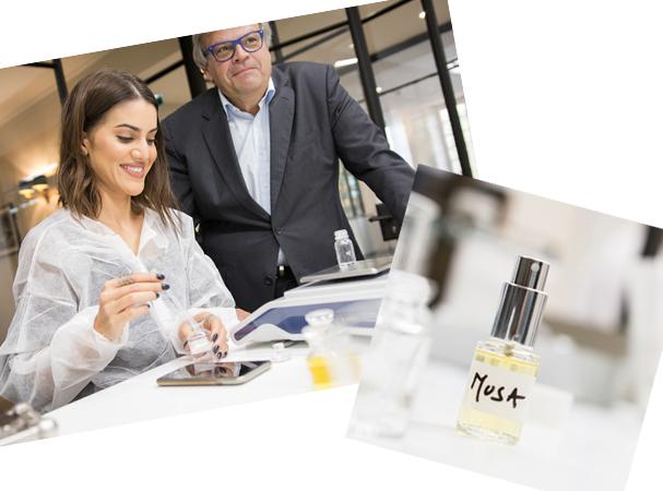 Musa, o perfume criado pela Camila em Grasse (Foto: Clemence Firmin)