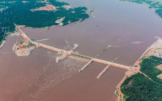 A Usina de Santo Antônio, em Rondônia (Foto: Reprodução)
