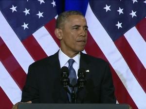 Barack Obama (GloboNews)  (Foto: Reprodução GloboNews)