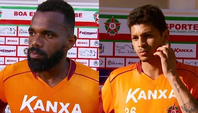 Tadeu e Felipe Alves podem estrear no jogo contra o Bahia (Foto: Reprodução EPTV)
