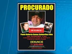 Família de advogado sumido divulga cartaz à procura de pistas (Foto: Reprodução/TV Bahia)
