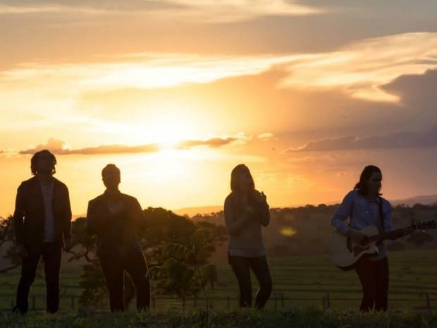 Banda gospel Pedras Vivas, vencedora do Trófeu Promesas, de Goiânia, Goiás (Foto: Reprodução/TV Anhanguera)