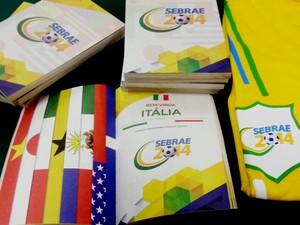 Cartilha traz expressões de países que participam da Copa em Natal (Foto: Divulgação/Sebrae-RN)