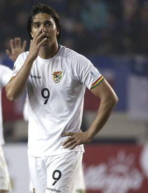 Marcelo Moreno Bolívia x Peru (Foto: EFE/Paolo Aguilar)