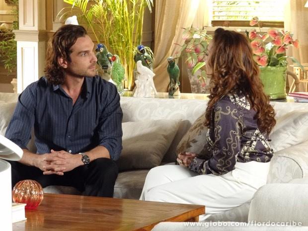 Guiomar quer fazer as pazes com Alberto (Foto: Flor do Caribe/ TV Globo)