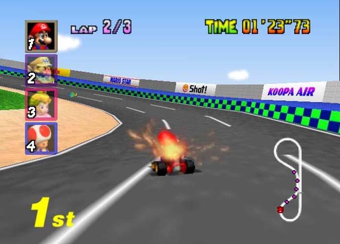 Mario Kart 64 (Foto: Reprodução)