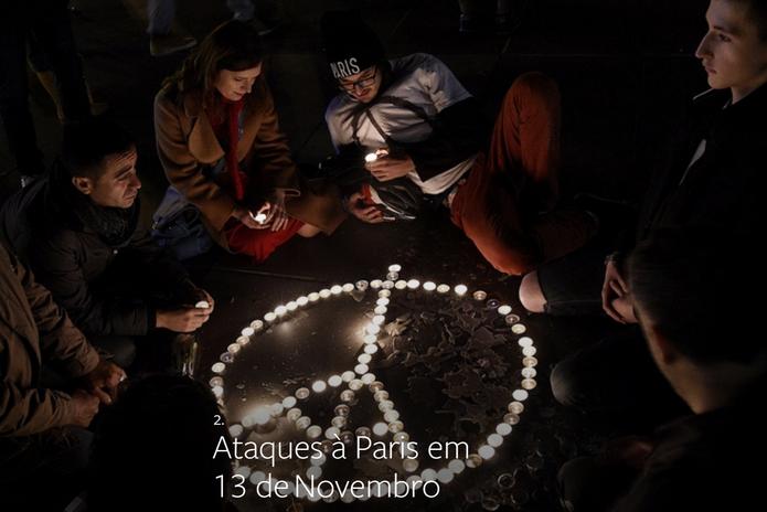 Ataques à Paris em 13 de novembro foi o segundo assunto mais comentado no mundo (Foto: Divulgação/Facebook)