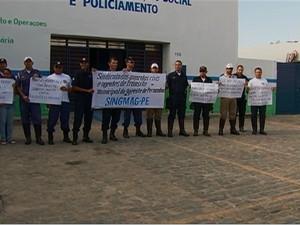 Guardas realizarão assembleia para definir possível greve. (Foto: Reprodução/ TV Asa Branca)
