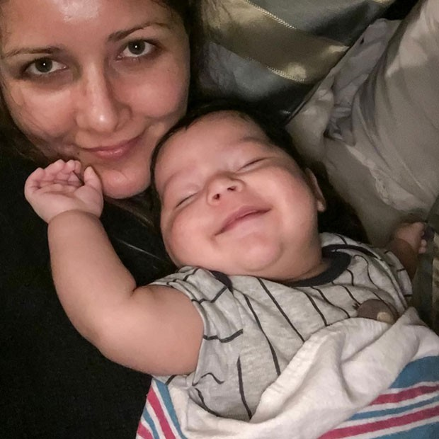 Nana Gouvêa posa com o neto, Noah (Foto: Instagram/ Reprodução)