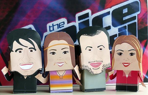 Paper Toys paranaenses e Daiane (Foto: Divulgação/ RPC TV)