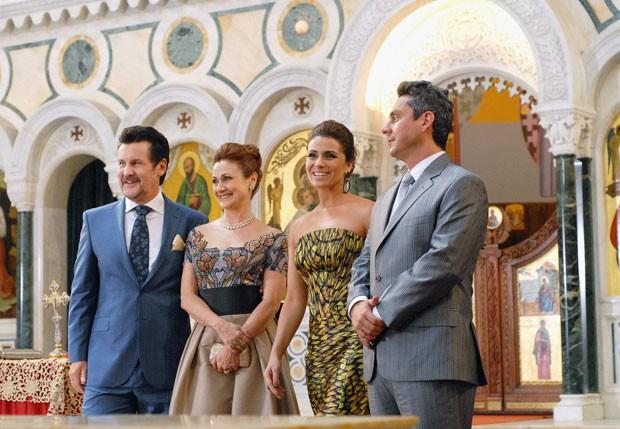 Antonio Calloni, Zezé Polessa, Giovanna Antonelli e Alexandre Nero também participaram das gravações (Foto: TV Globo)