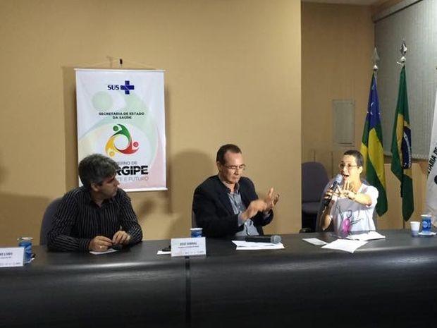 Situação da radioterapaia é debatida em coletiva  (Foto: Tassio Andrade/G1)