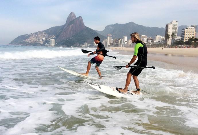 StandUp Paddle Caio Vaz e Ian Vaz (Foto: Alexandre Durão)