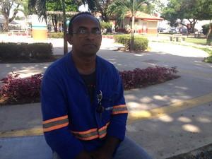 Motorista Carlos Alberto Moura, de 47 anos, Macapá, Amapá (Foto: Jorge Abreu/G1)