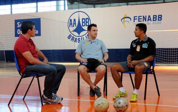 Falcão e Tobias Entrevistas Esporte Espetacular (Foto: André Garcia / TV Globo)