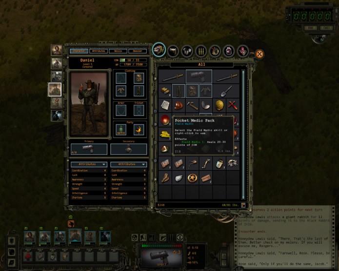 O game permite que os jogadores coordenem a utilização e a estocagem de itens diferentes no inventário de seus personagem (Foto: Reprodução/Daniel Ribeiro)