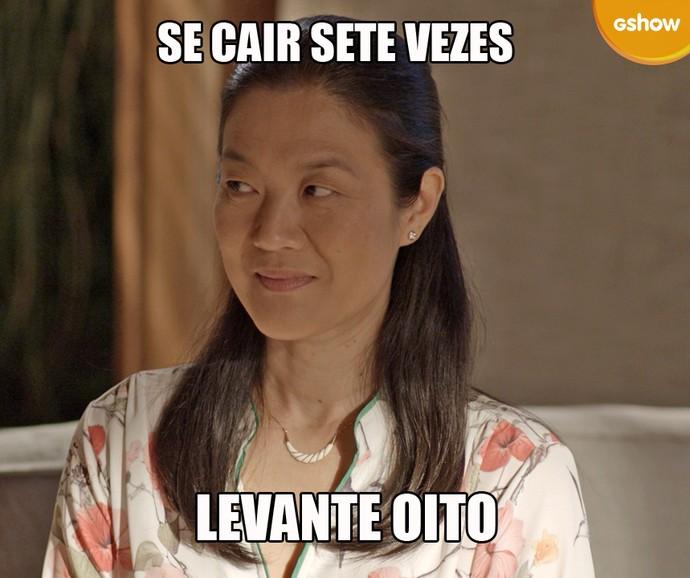 Mieko dá conselho (Foto: TV Globo)
