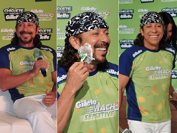 Bell Marques, do Chiclete com Banana, faz a barba pela primeira vez em 30 anos (Foto: Max Haack / Agência)