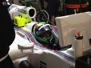 Felipe Massa com a Williams no primeiro treino livre para o GP da China (Foto: Divulgação)