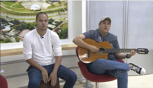 Dois integrantes da banda compareceram a entrevista do Bom Dia Amazônia  (Foto: Bom Dia Amazônia )