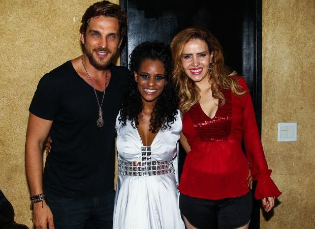 Igor Rickli, Aline Wirley e Leona Cavalli (Foto: Manuela Scarpa/Photo Rio News)