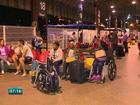 Protesto em garagem atrasa viagens na rodoviária de Vitória